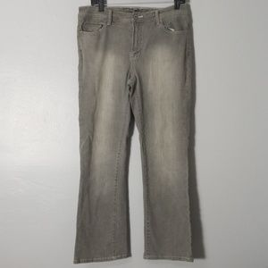 CHICO'S PLATINUM Grey Washed Women's Jeans Size 1